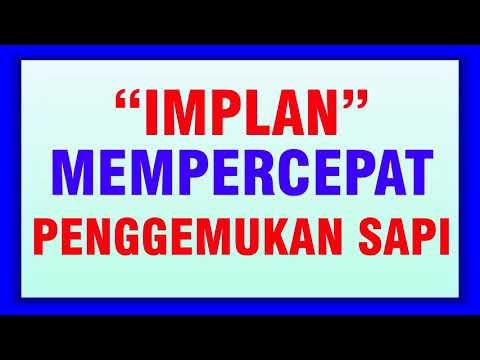 IMPLAN MEMPERCEPAT PENGGEMUKAN SAPI
