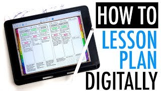 How To Digital Lesson Plan With An IPad | PLAN WITH ME