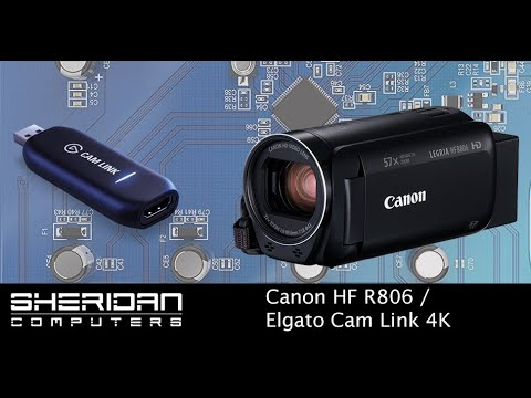 Canon Legria HF R806 | Elgato Cam Link 4K | OBS | Streaming