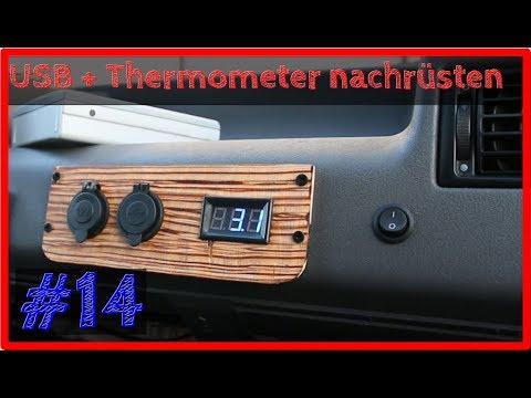 Außenthermometer🌡+ USB im Cockpit nachrüsten   VW T4 Camper Ausbau #14