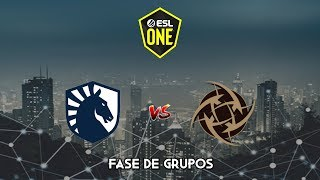 Team Liquid vs Ninjas in Pyjamas - ESL One Los Angeles