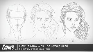 How To Draw Girls: The Female Face | Front View Of The Female Head