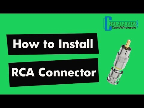 How to Install an RCA Compression Connector - RG58, RG59, RG6