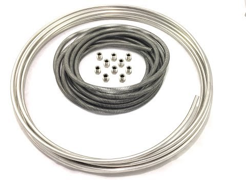 5//16 Inch and 3//8 Inch 4 Total pieces Gravel Guard Spring Stainless Brake and Fuel Line Protector 1//4 Inch All 16 Foot pieces For 3//16 Inch
