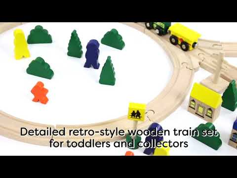 Battat - Deluxe Wooden Train – Classic Toy Train Set with Magnetic Trains, Tracks, Vehicles, Reviews