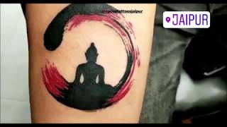 Buddha Zen Circle Tattoo | Xpose Tattoos In Jaipur | Time Lapse