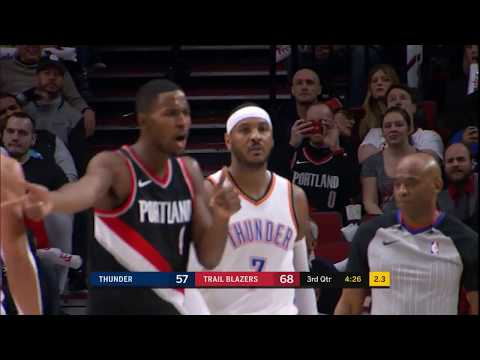 Thunder's Carmelo Anthony Controversially Ejected During Game vs. Trailblazers
