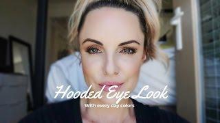 Hooded Eye Tutorial    Everyday Look For Downturned Eyes - Elle Leary Artistry