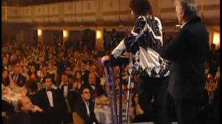 Queen accept award Rock and Roll Hall of Fame inductions 2001