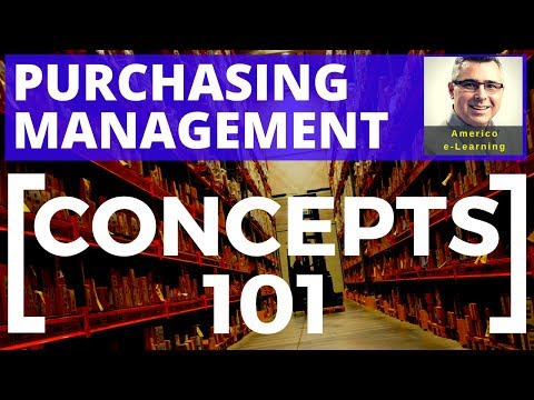 Lesson 1 - Purchasing management - concepts 101 - Learn main ...