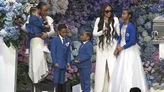 Lauren London And Kids Take Stage At Nipsey Hussles Memorial