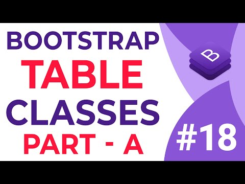 Bootstrap Table Classes  - Bootstrap Tutorial