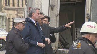 Mayor, Commissioner Visit Scene Of Firefighter