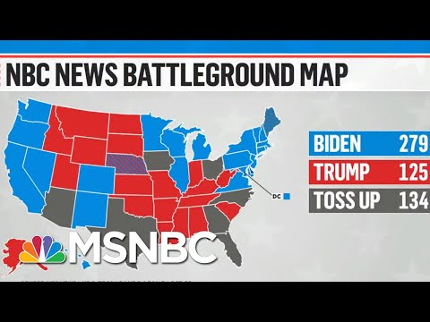 One Week To Go: NBC News Updates Battleground Map | MTP Daily | MSNBC