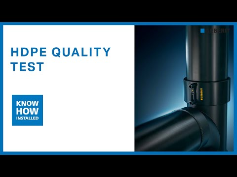 Geberit HDPE Quality Test