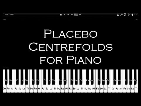 Placebo - Centrefolds - How To Play [100% Speed] - Synthesia - Piano Tutorial