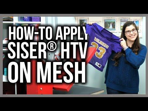 Applying Siser® HTV on Mesh