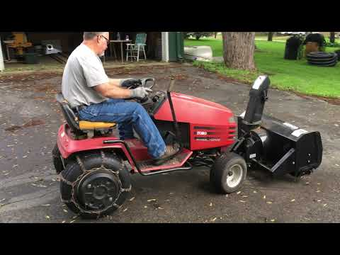 Toro Wheel Horse 264 H Lawn Tractor With Berco Snower