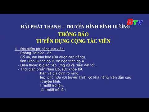 Thng bo Tuyn dng Cng tc vin  I TRUYN HNH BNH DNG