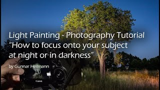 How to focus your camera at night or in total darkness. Simple Trick Tutorial