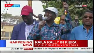 Raila Odinga tells Kibra residents not to go to work on Monday