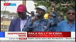 Raila Odinga tells Kibra residents not to go to work on Monday