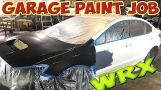 Rebuilding Wrecked Subaru WRX! Garage Paint Job! (Part 4)