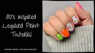 How To Create Funky 80's Inspired Leopard Print Nail Art With GelMoment