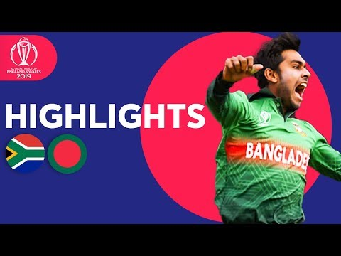 South Africa vs Bangladesh | ICC Cricket World Cup 2019 - Match Highlights