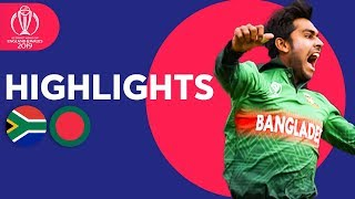Tigers Win In Thriller!   South Africa vs Bangladesh - Match Highlights   ICC Cricket World Cup 2019