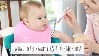 WHAT FOODS TO FEED BABY FIRST 4-6 MONTHS + HOW TO KNOW WHEN BABY IS READY FOR SOLIDS