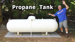 Propane Tank INSTALL $1,700 NEW Above Ground 320 gallon Holding leaking underground