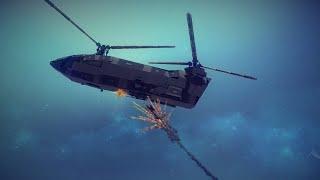 Rhino Assault Gunship Shot Down | Besiege