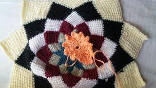 How To Make Crochet Doormat / Puja Aasan / Thalposh Design