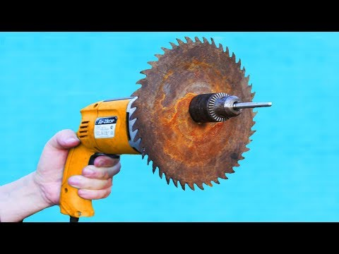 Bright Idea With a Drill And an Old Saw!