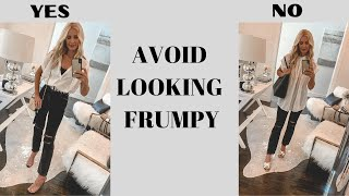 10 Style Tips To Help You Avoid Looking Frumpy | Fashion Over 40