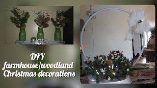 Dollar Tree Hula Hoop Christmas Centerpieces 🏡 Diy Farmhouse Holiday Decor 🏡 Diy Home Decor