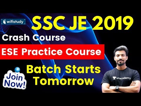SSC JE 2019 | ESE Practice Couse | Use Code SANDEEP11