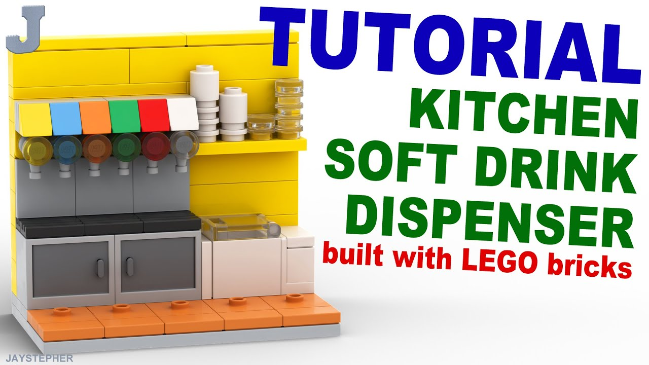 How To Build A LEGO Kitchen Soft Drink Dispenser DIY Tutorial