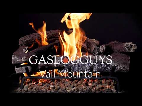GasLogGuys Vail Mountain Charred Oak Vented Gas Log Set