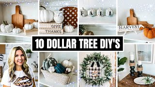 Impress Everyone one with 10 Dollar Tree Fall DIY's 🍁 that take 5 minutes to DO!