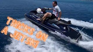 Doing tricks on a jetski 🌊 #shorts