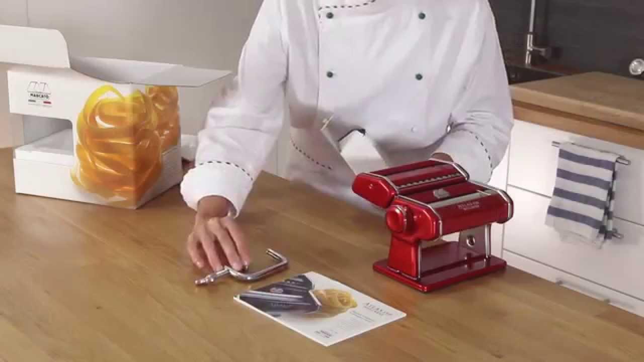 Video - Marcato Pastamachine Atlas Wellness 150 Chroom