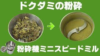 [香草粉末]卓上型粉砕機械でドクダミ粉の作り方ハイスピードミル