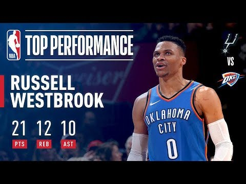 """Russell Westbrook Says """"Why Not"""" & Notches Another Triple Double vs The Spurs – The New York ..."""