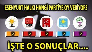 (YENİ)Yarın Bir Erken Genel Seçim Olsa Esenyurt Halkı Hangi Partiye Oy Verecek ? İŞTE O SONUÇLAR...