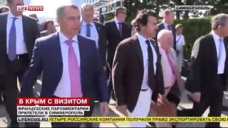 Французская делегация в Крыму не боится запрета въезда на Украину