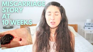 WHAT DOES A NATURAL MISCARRIAGE LOOK LIKE? 10 WEEKS | BLIGHTED OVUM (GRAPHIC FOOTAGE!)