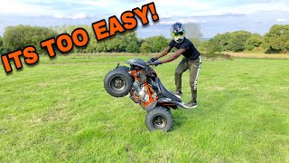 LEARNING TO WHEELIE A QUAD BIKE LIKE A BOSS!