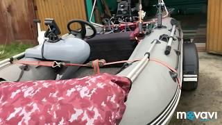Надувная лодка с рулём